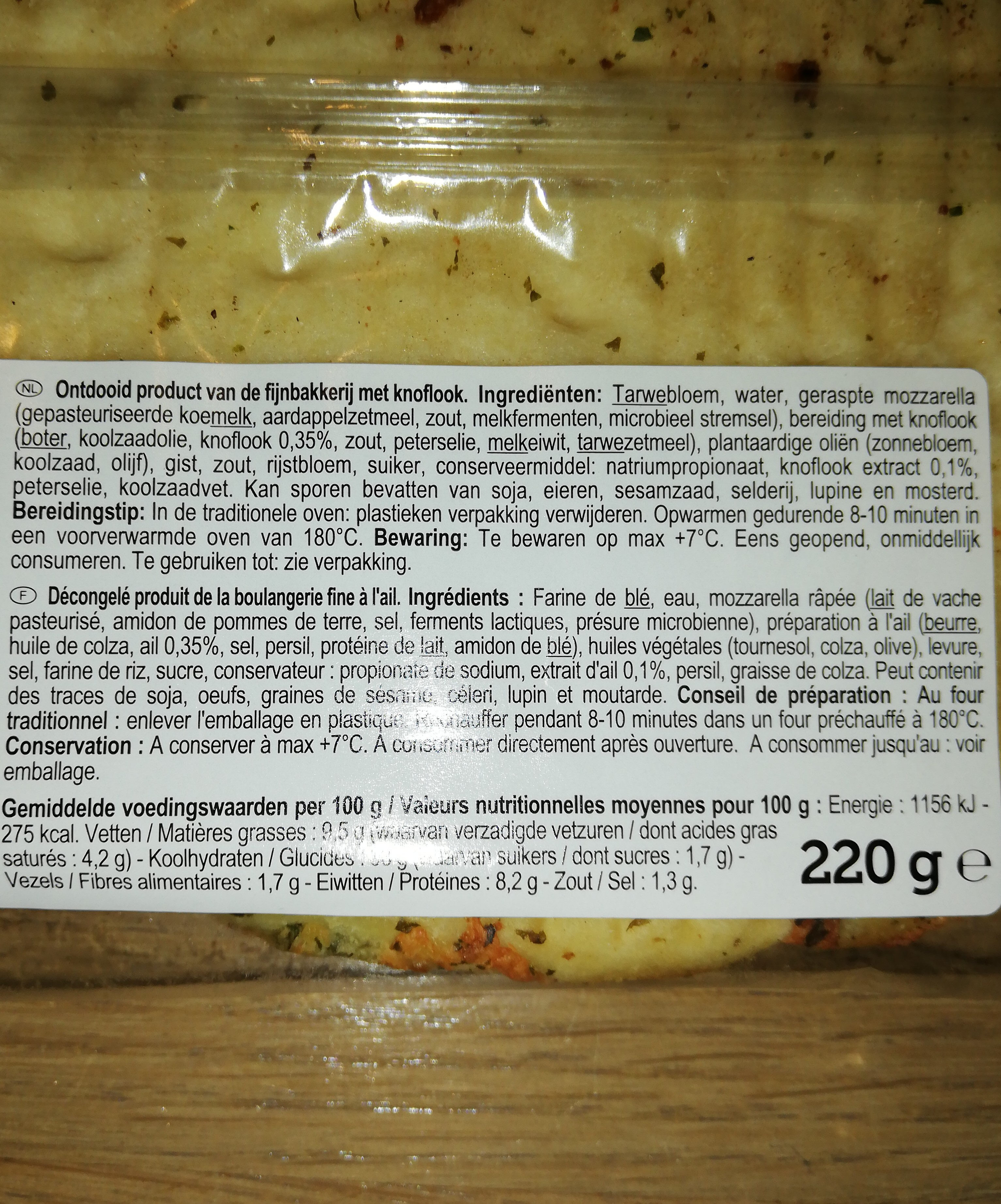 Focaccia à l'ail - Ingrediënten