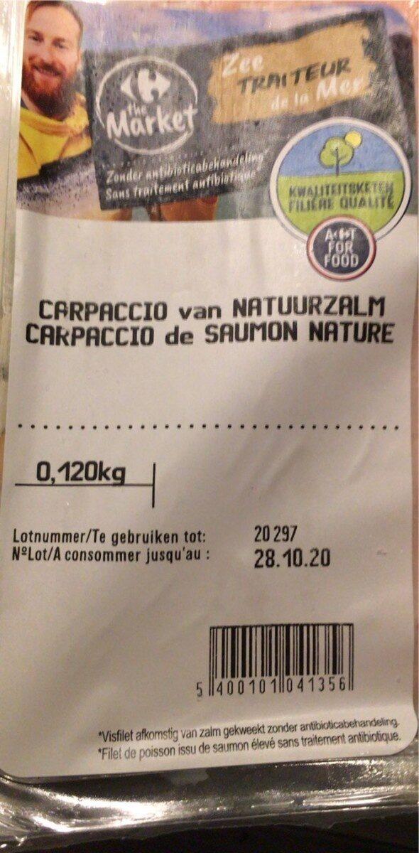 Carpaccio de saumon nature - Produit - fr