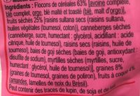 Muesli Superfruit - Ingrediënten - fr