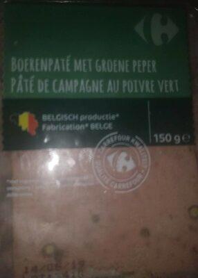 Pâté de campagne au poivre vert - Product - fr