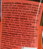 Nappage Gout Fraise - Ingredients - fr