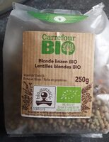 Lentilles blondes bio - Produit