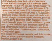 Chili con carne - Ingrediënten - fr