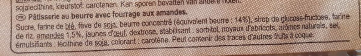 Tartelettes aux amandes - Ingrediënten - fr