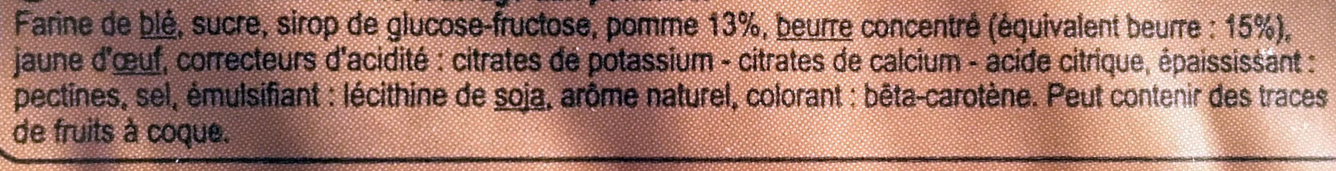 Tartelletes aux pommes - Ingrediënten - fr