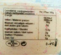 Salade au king crabe - Informations nutritionnelles - fr