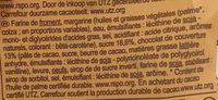 Gaufres de Liège avec Chocolat Noir - Ingrediënten
