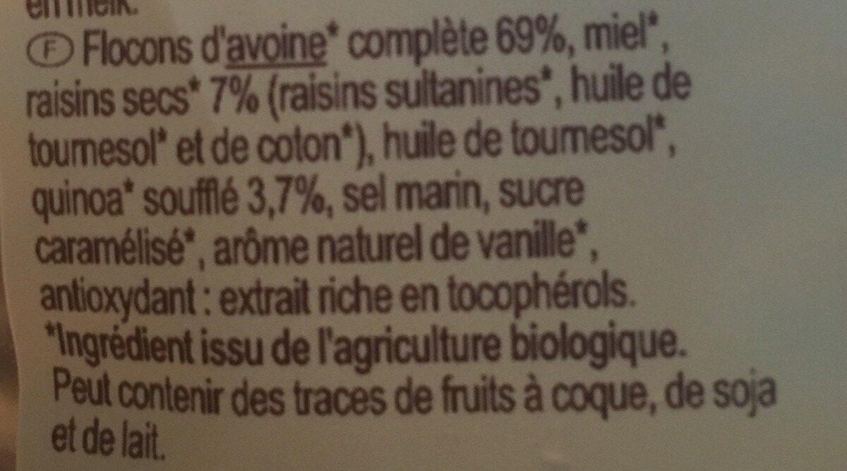 Granola avec quinoa - Ingrediënten