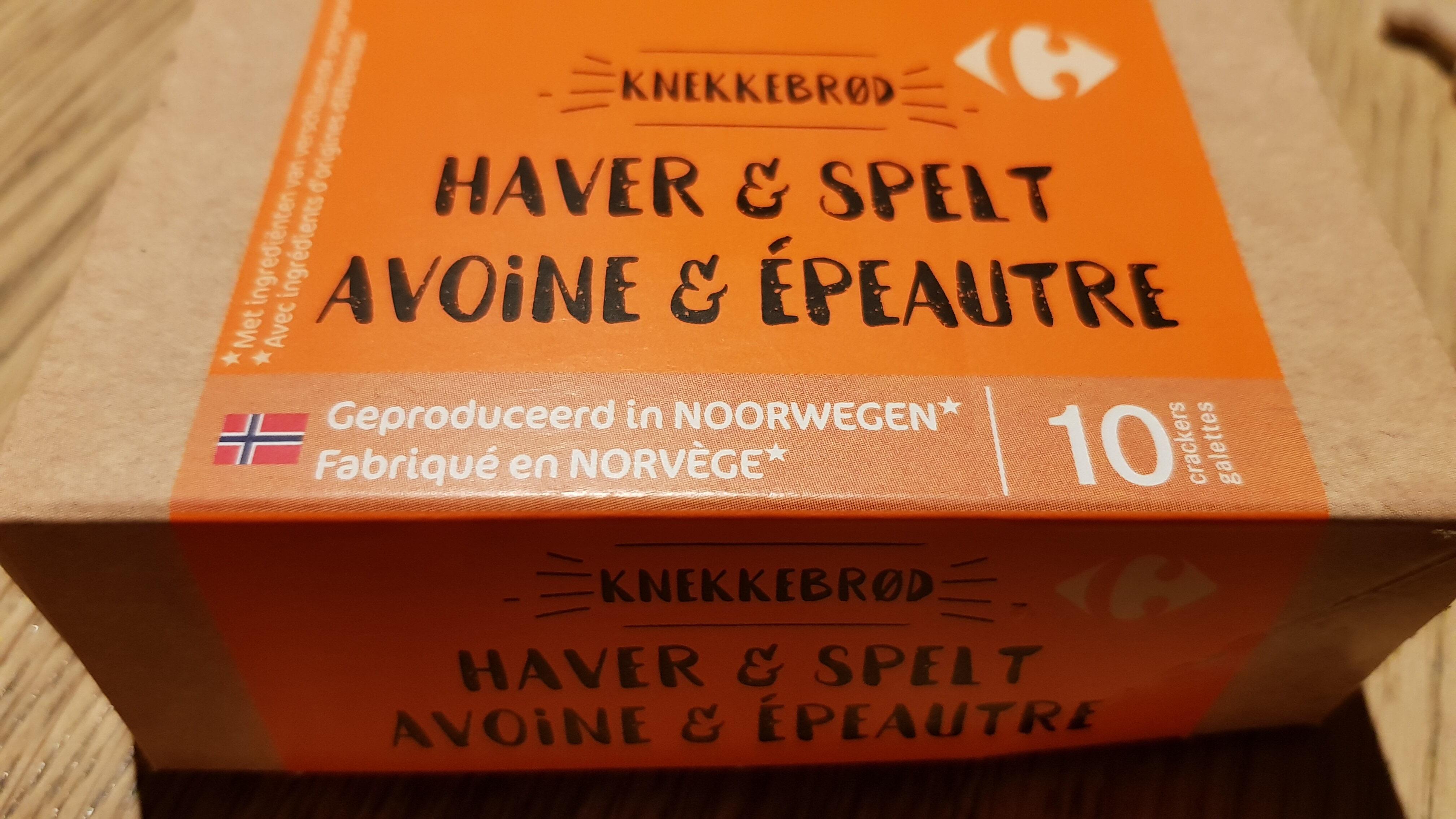 Knekkebrod avoine & épeautre - Product - nl