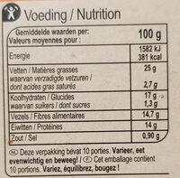 Knekkebrod avoine & épeautre - Voedingswaarden - nl