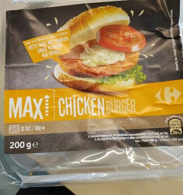 Max Chicken burger - Produit - fr