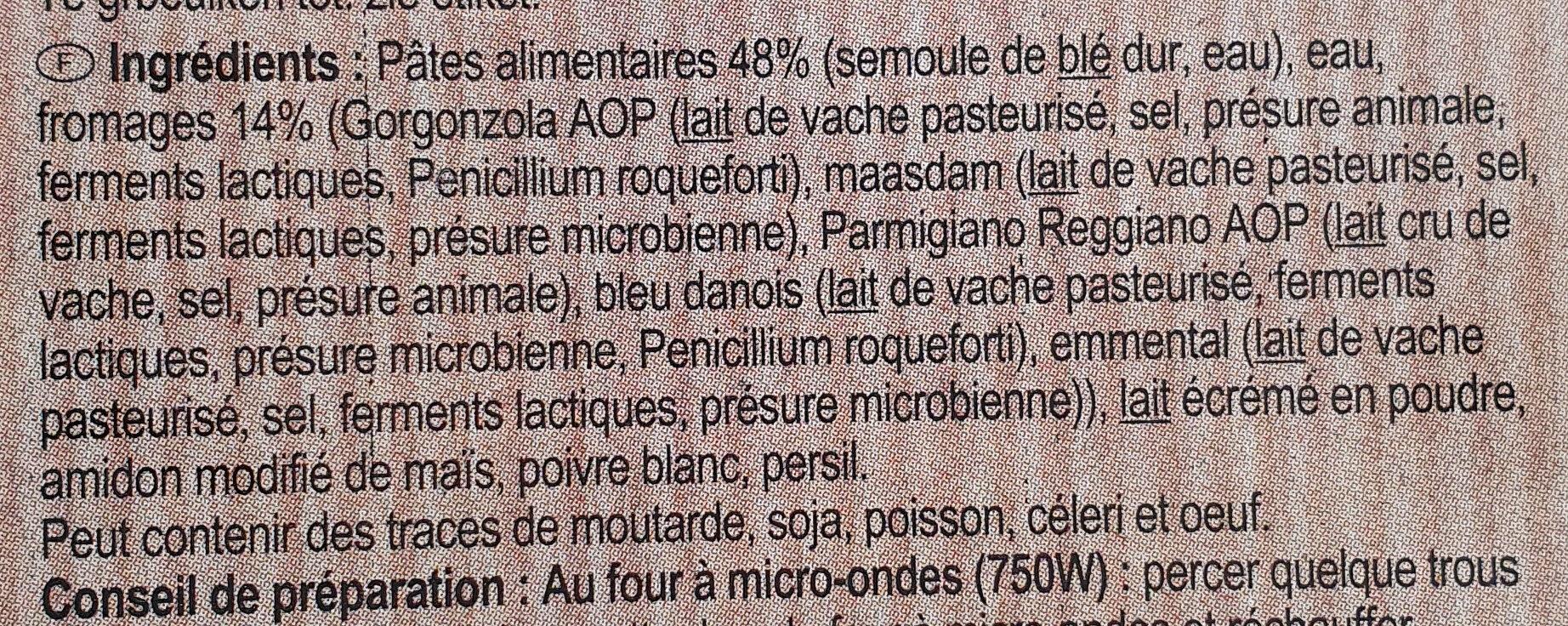 Penne 5 Formaggi - Ingrediënten