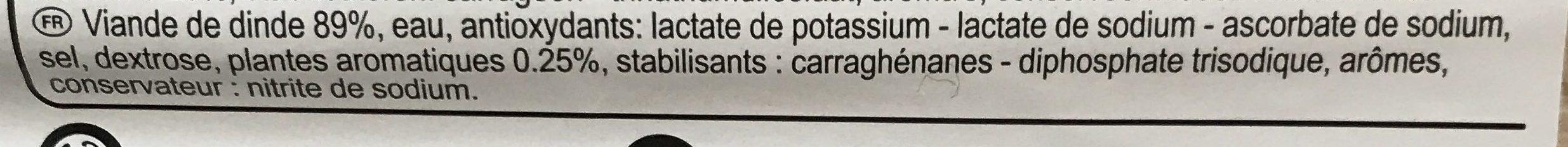 Filet de dinde aux herbes - Ingrédients