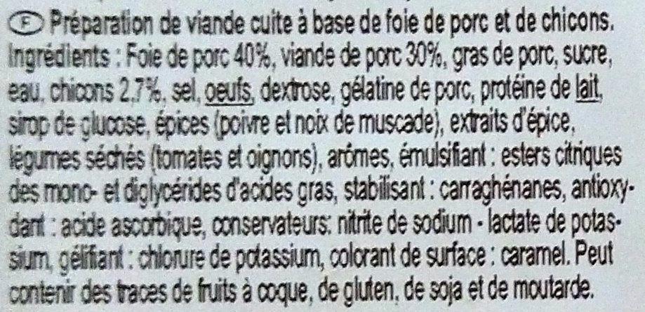 Pâté aux chicons - Ingrediënten - fr