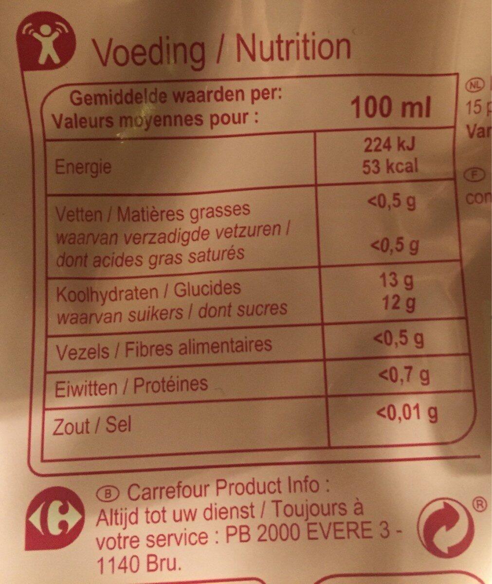 Jus de pomme cerise - Voedingswaarden