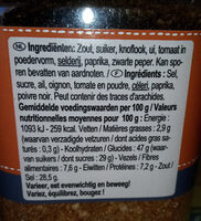 mix spaghetti - Informations nutritionnelles - fr