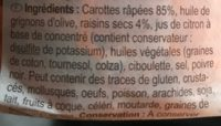 Carottes avec Raisins Secs - Ingrediënten - fr