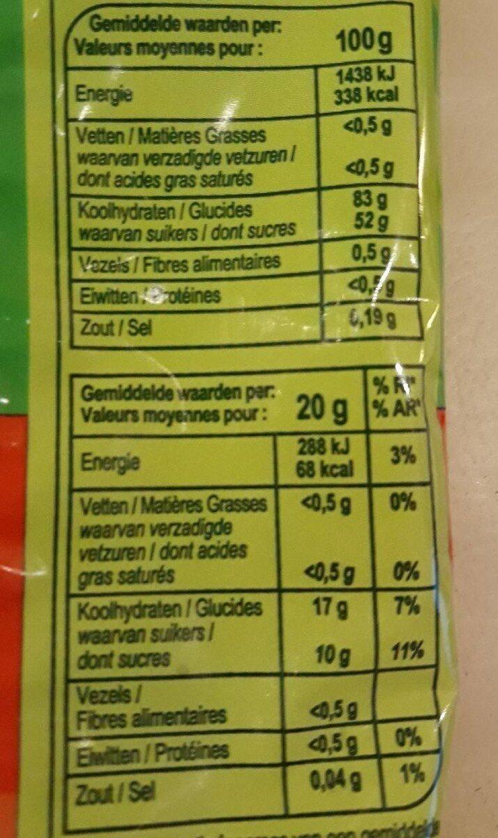 Veggy Cola - Voedingswaarden