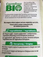 Yogourt maigre - Ingrediënten - nl