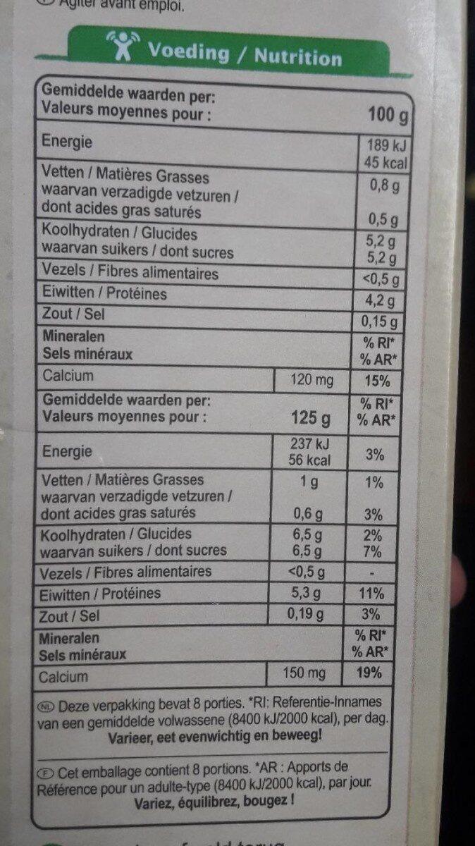 Yogourt maigre - Voedingswaarden - fr