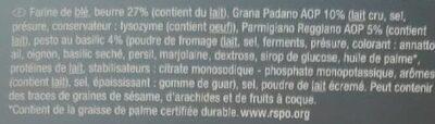Cheese palmiers - Ingrediënten - fr