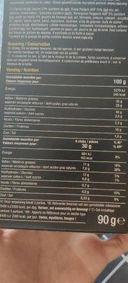 Cheese palmiers - Voedingswaarden - fr