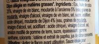 Vinaigrette moutarde light - Ingrédients - fr