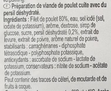 Filet de poulet aux fines herbes - Ingrédients - fr