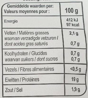 Filet de poulet aux fines herbes - Informations nutritionnelles - fr