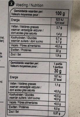 Jambon magistral - Informations nutritionnelles - fr
