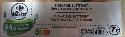 Chou-fleur, butternut, riz noir & filet de limande - Produit - fr