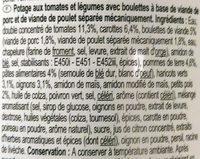 tomaten-groenten soep - Ingrédients - fr