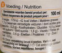 tomaten-groenten soep - Informations nutritionnelles - fr