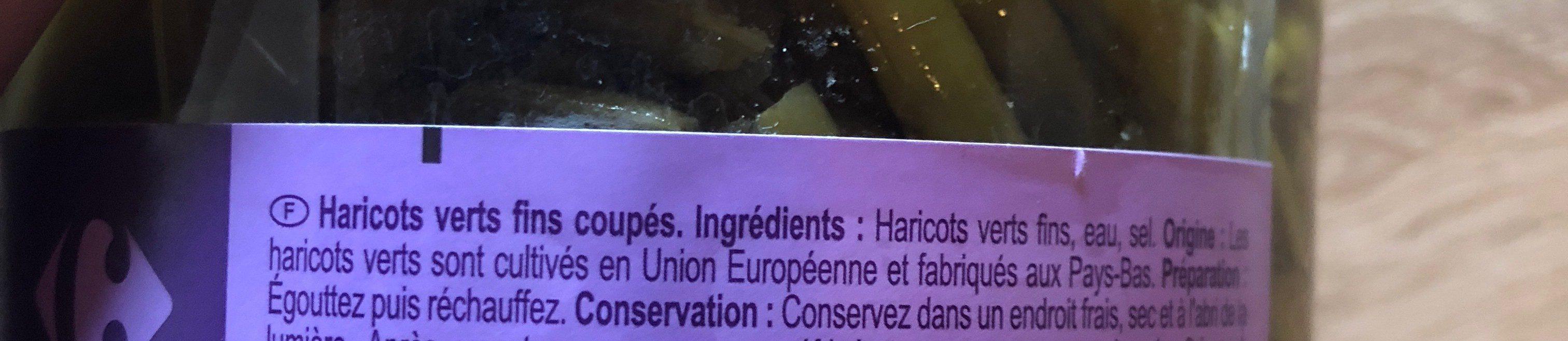 Haricots Verts - Ingrédients