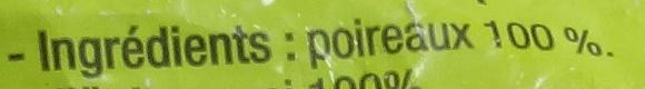 Poireaux émincés - Ingredients - fr