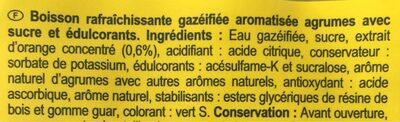 Saveur agrum' - Ingrédients - fr