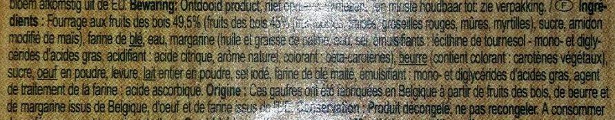 Gaufres Fruits des Bois - Ingrediënten - fr