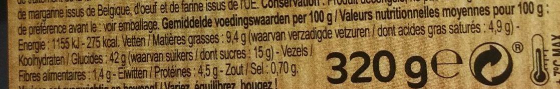 Gaufres Fruits des Bois - Voedingswaarden - fr