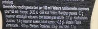 Sauce Pita - Informations nutritionnelles - en