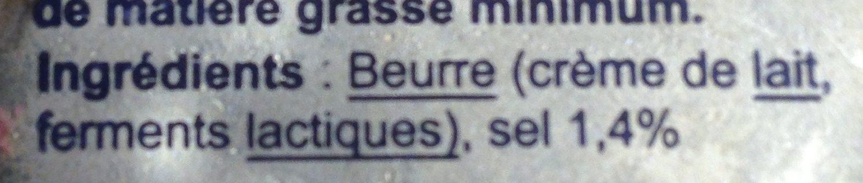 Beurre DEMI-SEL LAIT ORIGINE BRETAGNE - Ingredients - fr