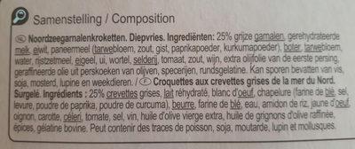 Croquettes aux crevettes - Ingrediënten - fr