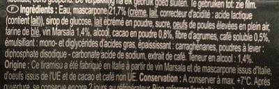 Tiramisu - Ingredients - fr