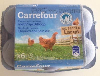 6 œufs de poules élevées en plein air - Product