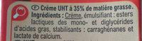 Crème Entière - Ingredients - fr