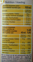 Crème Entière - Nutrition facts - fr