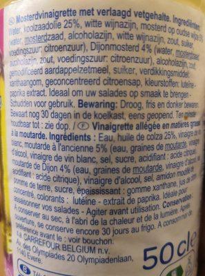 Vinaigrette a la moutarde - Ingredients - fr