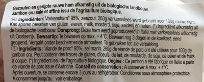 Prosciutto Crudo - Ingrediënten