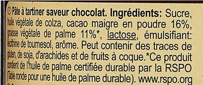 Pâte à tartiner Intense - Ingredienti - fr