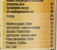 Pâte à tartiner Intense - Valori nutrizionali - fr