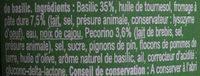 Sauce Pesto Genovese - Ingrediënten - fr